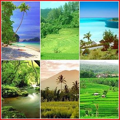 HUtann, Pantai dan Pertanian.